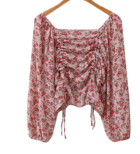 Flower Double String Blouse