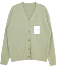 My-littleclassic/ champagne gold button cardigan