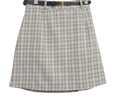Checked waffle skirt