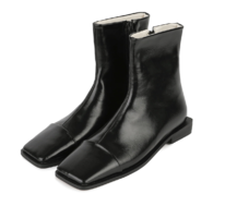 Abel toe point middle-heel ankle boots