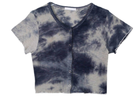 Tie-dye touch cropped cardigan