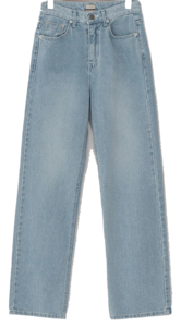Faded Wide Denim Pants