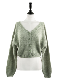 ♥//3 More than a ceiling ♥ It's just mine Posong Posong Pastel Alpaca Wool 20% Short 155cm Crop V-Neck Knitwear Cardigan