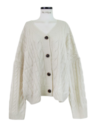 Timing Twisted Loose-fit Knitwear Cardigan