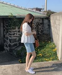 Barnell flared blouse