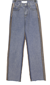 River Rock Line Wide Denim Pants
