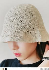 Knit Cotton Bucket Hat