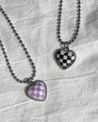 Chess Surgical Checkerboard Ball Chain Necklace