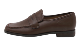 Athos Real Wood Heel Penny Loafers