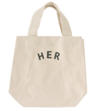 Lettering Canvas Mini Tote Bag