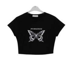 Butterfly Laura cropped T-shirt