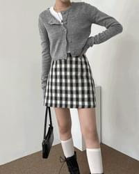 School Teen Check Mini Skirt