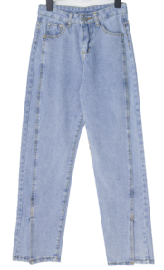 Gail-hem Split denim pants
