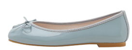 Erino enamel ribbon flat shoes