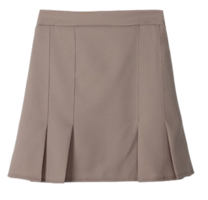 Turtleneck hem pleated skirt