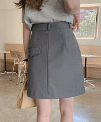 Clady buttoned skirt