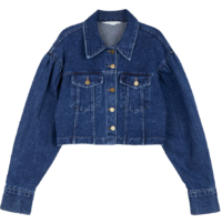 Girls cropped denim jacket