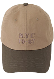 Numbering embroidery ball cap