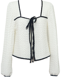 *Ivory same day shipping* Crumble cardigan