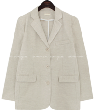 Notched Lapel Boxy Jacket