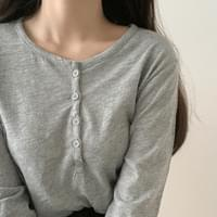 Button Point Sleeve T