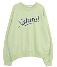 《Planned Product》'Natural' Loose-fit Embroidered Sweatshirt