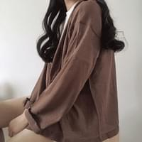 Unfooted hooded cardigan