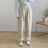 Over pintuck wide pants 2color