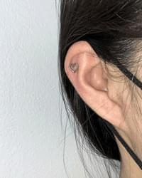 Surgical Silver Heart Piercing