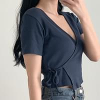 Ribbed Wrap Crop T