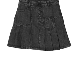 Rodem pleated mini denim skirt