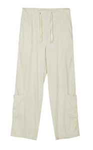 String wide cargo trousers