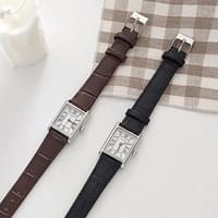 Classic Square Cowhide Watch