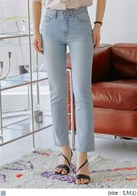 Concealed Waistband Straight Jeans