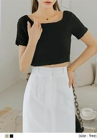 Crinkled Cropped T-Shirt