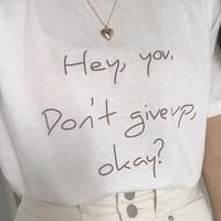 Hey You Lettering Short Sleeve Tee
