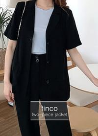 Finco linen basic two-piece jacket