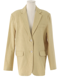 Awesome single linen jacket
