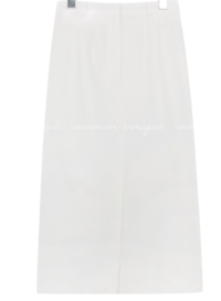 LEOD COTTON SLIT LONG SKIRT