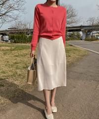Fuse flared skirt-7color