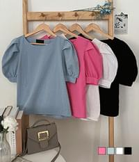 Bien puff short-sleeved blouse