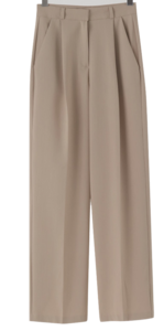 Island Pintuck Wide Slacks