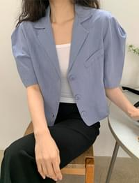 Lily cropper linen jacket