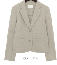 Singled-Breasted Notch Lapel Jacket