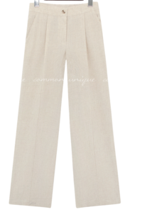Pintuck Accent Loose Pants