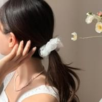 Flower chiffon hair giblets band