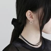 Self Fit Double Circle Earrings