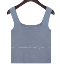 Square Neck Knit Sleeveless Top