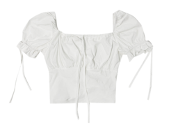 Smoked short-sleeved blouse