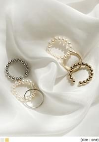 TENA PEARL LAYERED RING 3 SET